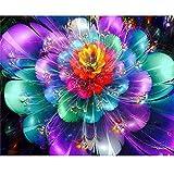 """5D DIY Diamante Pintura Taladro completo Patrón de flor Rhinestone Diamante Bordado Pinturas ZS015 (Flores multicolores, 12""""X12"""" / 30x30cm)"""