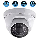 Security Dome Camera, ZY 2.0MP 3 in 1 (AHD/TVI/CVI) IR night vision 1080P surveillance analog camera 3.6mm lens ICR auto day night wide angle Outdoor/Indoor IP66 weatherproof surveillance camera