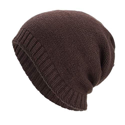 Yezijin Women Men Warm Baggy Weave Crochet Winter Wool Knit Ski Beanie Skull Caps Hat (Coffee) ()