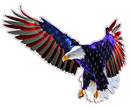 Amazon Com Flying American Flag Eagle Decal 6 In The United States