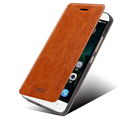 Huawei Honor 4c Case - Asmart Stand Pu Leather Cover Soft TPU Back Case Shell for Huawei Honor 4c (Brown)
