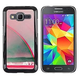 Arte del arco iris Verano Mar Rojo trullo - Metal de aluminio y de plástico duro Caja del teléfono - Negro - Samsung Galaxy Core Prime