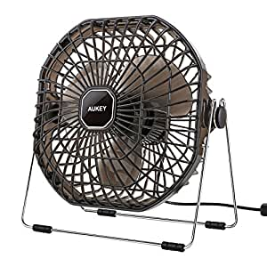 AUKEY USB Desk Fan, Ultra-Quiet Portable Table Fan with Strong Airflow, 7-Inch