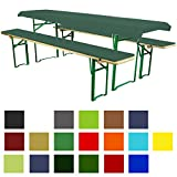 3-Piece Beer tent Bench Cover Set - Comfort XS - Available in Various Shapes and Sizes