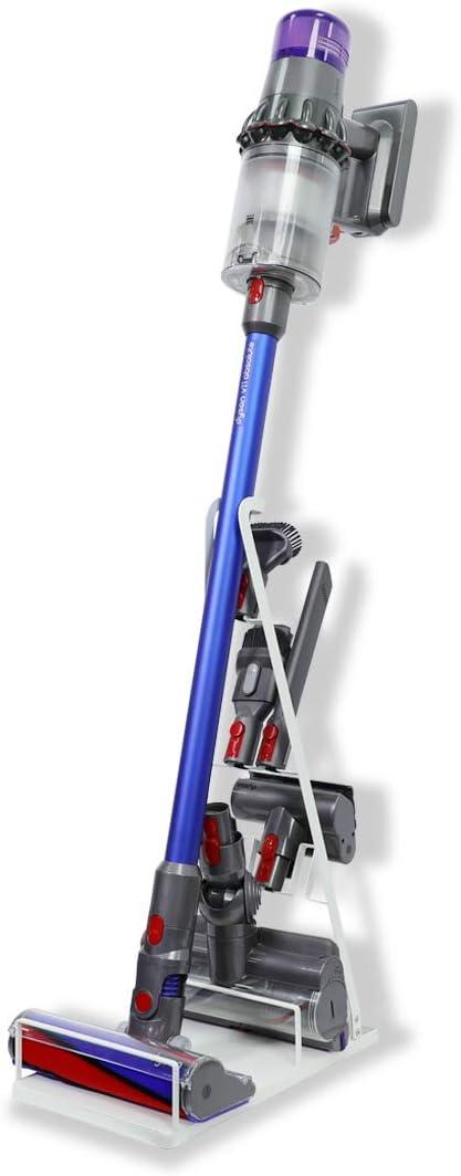 LANMU Docking Station Floor Stand Accessory Holder for Dyson V11 V10 V8 V7 V6 Vacuum Cleaner, Attachment Tool Holder, No More Messy Tools (White)