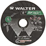 Walter ZIP Alu Fast and Free Cutoff Wheel, Type 1, Round Hole, Aluminum Oxide, 5