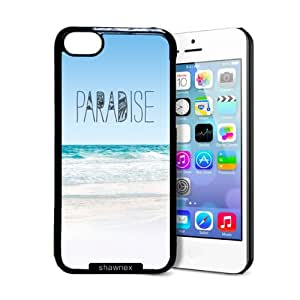 Shawnex Paradise Beach Hipster Quote iPhone 5C Case - Thin Shell Plastic Protective Case iPhone 5C Case