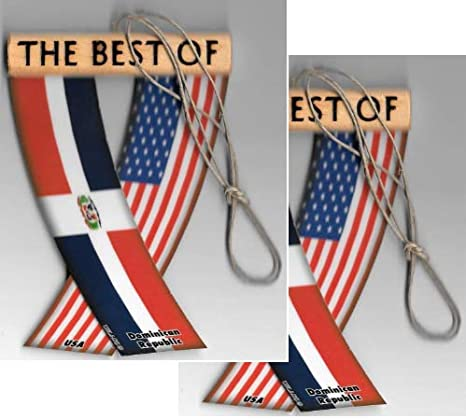 UNITY FLAGZ Dominican Republic Dominican Caribbean Flag Rear View Mirror Hanging CAR Flags Mini Banners for Inside The CAR