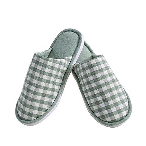 Green Deux Ultra Chaussures En Coton Légères Semelle Lanker Lavable Paires Pantoufles Avec Antidérapante D'intérieur Plat Bout Confort Kj22xl Pink U1w6fq