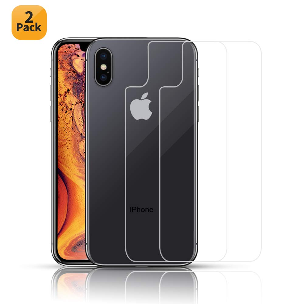 HWeggo iPhone XS Max Schutzfolie Panzerglas, iPhone XS Max Panzerglasfolie Vorne und Hinten Displayschutzfolie 9H Panzerglas Anti-Kratzer Tempered Glass Screen Protector für iPhone XS Max (6.5 Zoll)