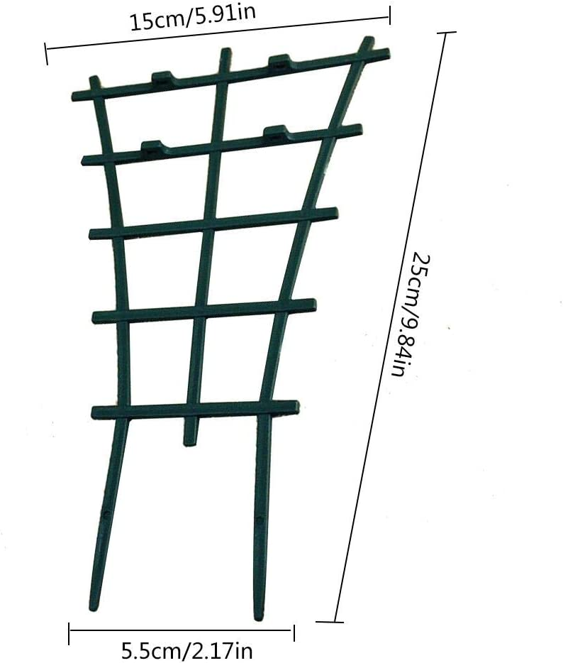 Metal Plant Supports Plant Stem Support Garden Plant Stand Mini Flower Climbing Trellis Vegetable Supports for Courtyard Garden Indoor Outdoor Climbing Plants 25/×15/×5.5cm