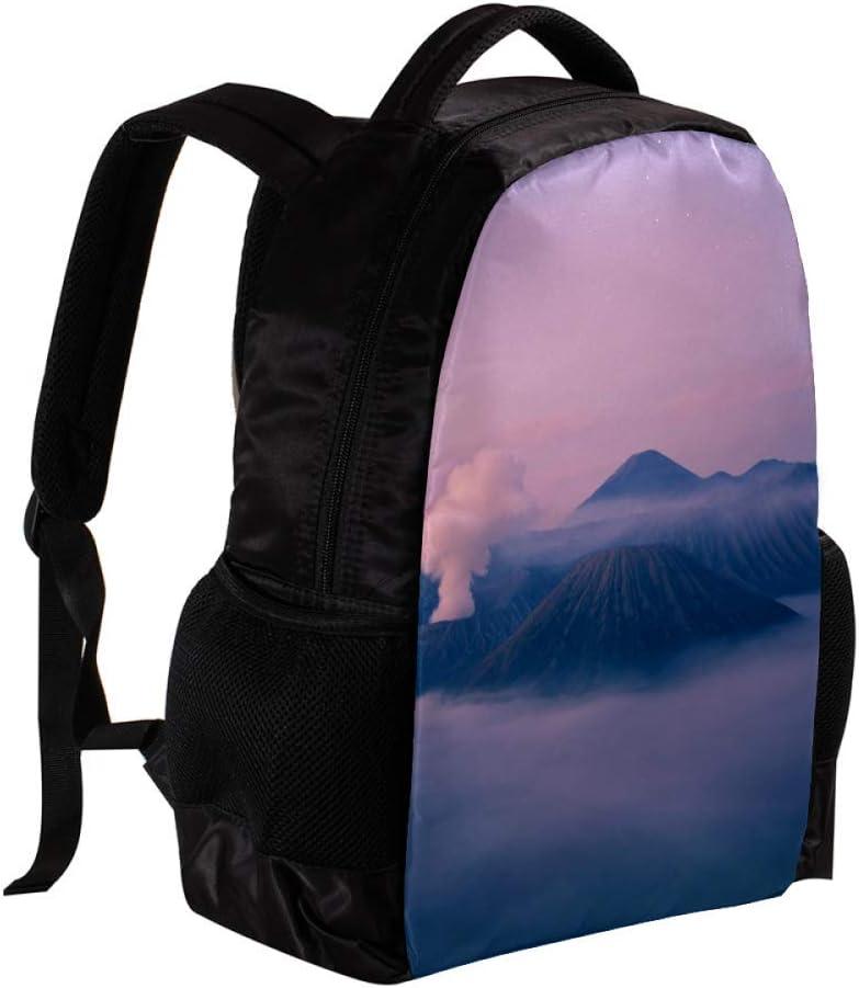 MAPOLO Brown Mountains School Backpack Travel Bag Rucksack College Bookbag Travel Laptop Bag Daypack Bag for Men Women