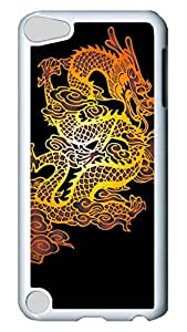 Brian114 Case, iPod Touch 5 Case, iPod Touch 5th Case Cover, China Dragon Oriental Style 8 Retro Protective Hard PC Back Case for iPod Touch 5 ( white )
