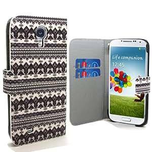 Accessory Master 5055716362244 - Funda tipo libro para Samsung Galaxy S IV i9500, piel sintética PU, diseño de flores