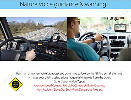9inch Truck GPS Big Touchscreen Trucking GPS Bluetooth AV-in Xgody GPS Navigation for car Navigation 8GB ROM SAT NAV System Navigator Driving Alarm Lifetime Map Updates by XGODY (Image #8)