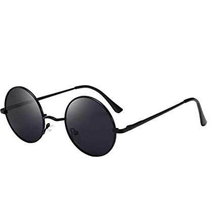 Sunday Gafas De Sol Polarizadas Retro Unisex Redondas Metal Marco Almohadillas De Nariz De Silicona (