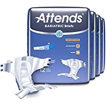 Attends Bariatric Briefs with Advanced DermaDry Technology for Adult Incontinence Care, XX-Large, Unisex ,  48 Count