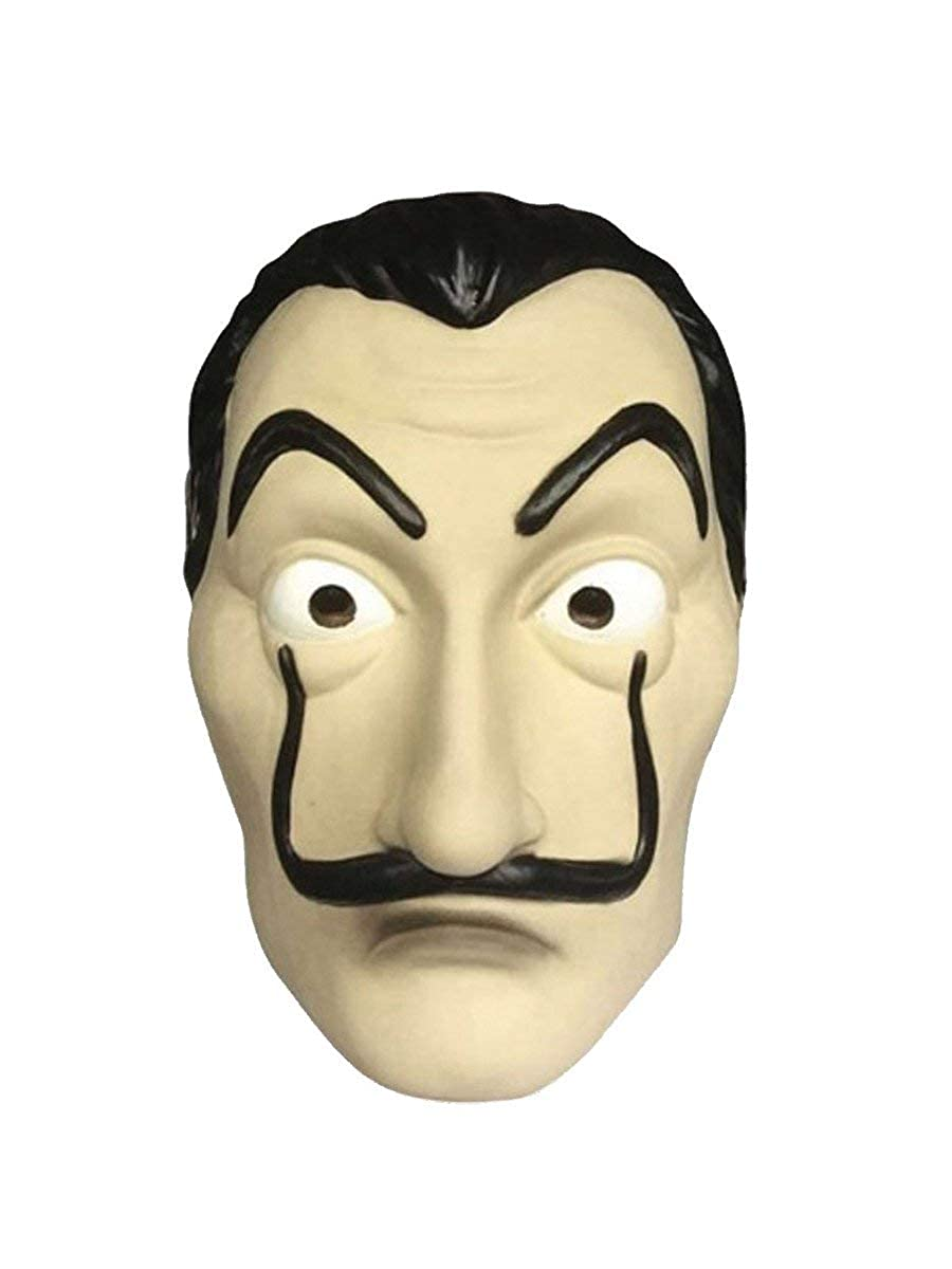 8f328b0e5 Amazon.com: Dali Mask Salvador LA CASA De Papel | Money Heist | Realistic  Movie Prop Face Mask: Clothing