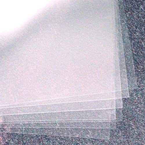 Plastic Suppliers 4 Mil Clear Acetate Sheets 16 Inch x 24 Inch, Pack of 10