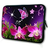 15.6 Notebook Sleeve, WATERFLY Flower and Butterfly Laptop Cases Bags Computer Accessories 15 Carrying Case for Dell Lenovo HP ASUS Lenovo Toshiba Acer APPLE Macbook Pro