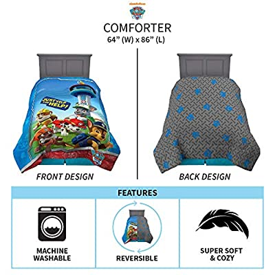 "Franco Kids Bedding Super Soft Microfiber Comforter, Twin Size 64"" x 86"", Paw Patrol: Home & Kitchen"