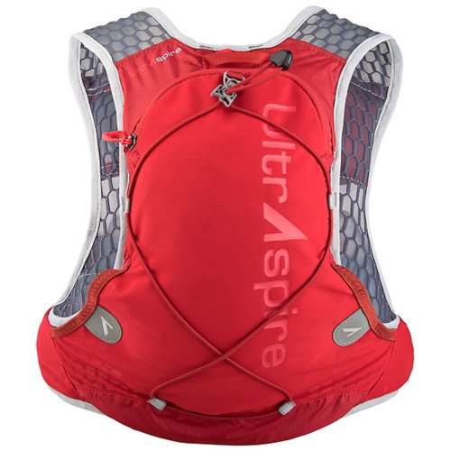 Ultraspire Alpha 3.0 Hydration Pack | Up to 3 L Fluid Capacity | 2 Bottles Included | BPA Free Bladder (Ultra Red, MD (Chest Size: 34