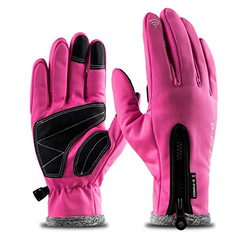 Cold Weather Touchscreen Warm Gloves Women, Outdoor Windproof Waterproof Winter Gloves for Cycling Motorcycle Skiing Snowboard