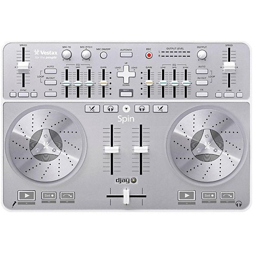 Vestax Spin DJ USB Controller + Djay Pro 2 Software
