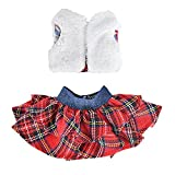 E-TING Santa Couture Clothing Elf Dolls, Decor Doll Clothes a Christmas Family Tradition (Fluffy Vest Mini Plaid Skirt)