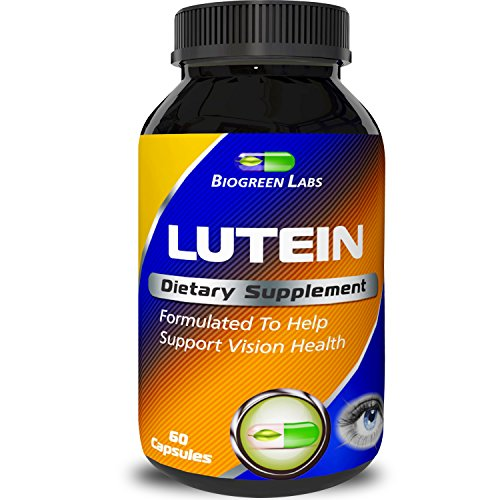Lutein Eye Support Supplement - Advanced Vision Support Vitamin - 1 Antioxidant to Keep Eyes Strong amp Vision Clear Improve Ocular Health with Pure Zinc amp Bilberry for Women amp Men by Biogreen Labs Discount