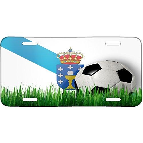 Soccer Team Flag Galicia region Spain Metal License Plate 6X12 Inch (Clearframe??? License Plate Frame)
