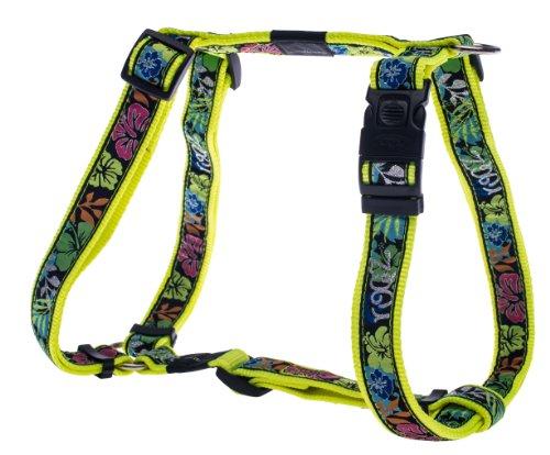ROGZ Stylish Fancy Dress Armed Response Adjustable Dog Harness, X-Large, Day-Glo Floral Design