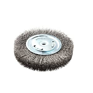 "Lincoln Electric KH321 Crimped Wire Wheel Brush, 6000 rpm, 6"" Diameter x 1"" Face Width, 5/8"" x 1/2"" Arbor (Pack of 1)"