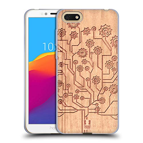 Head Case Gears - Head Case Designs Tree Gears Soft Gel Case Huawei Honor 7S / Honor Play 7