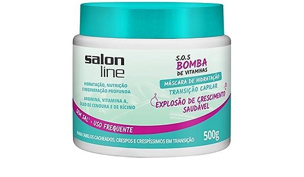 Amazon.com: Linha Tratamento (SOS Bomba de Vitaminas) Salon Line - Mascara Transicao Capilar Explosao de Crescimento 500 Gr - (SOS Vitamin Bomb Collection ...