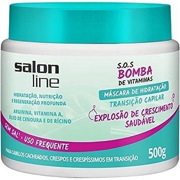 Linha Tratamento (SOS Bomba de Vitaminas) Salon Line - Mascara Transicao Capilar Explosao de