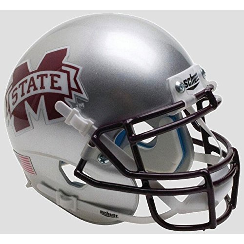Mississippi State Bulldogs Silver Officially Licensed Full Size XP Replica Football Helmet