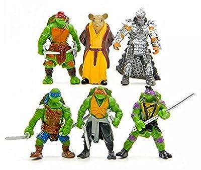 """Oliasports 6Pcs Teenage Mutant Ninja Turtles TMNT 2"""" Action Figures Collection Toys Set"""