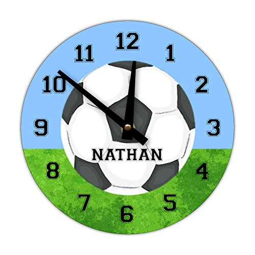 Personalized Sports Wall Clock, Soccer