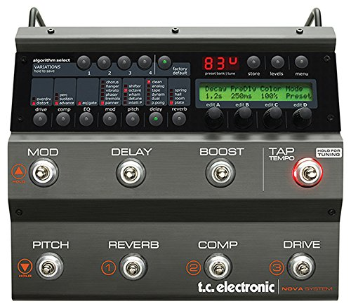 TC Electronic Nova System Floor Based Analog Overdrive/Distortion with G-System Effects and Dynamics - Electronic System Tc Nova
