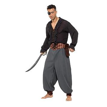 NET TOYS Pantalón Medieval Pirata para Hombre - Gris XL (ES 56/58 ...