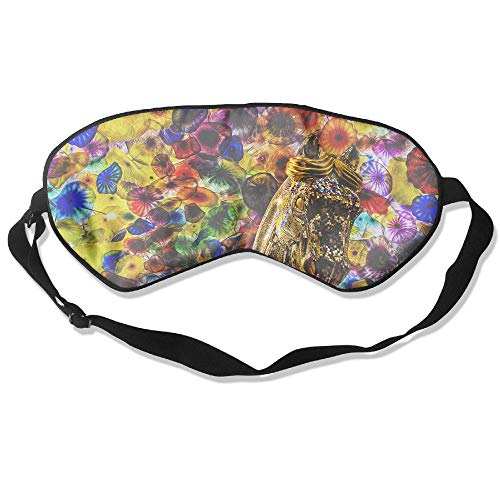 WUGOU Sleep Eye Mask Carnival Niagara Lightweight Soft Blindfold Adjustable Head Strap Eyeshade Travel Eyepatch]()