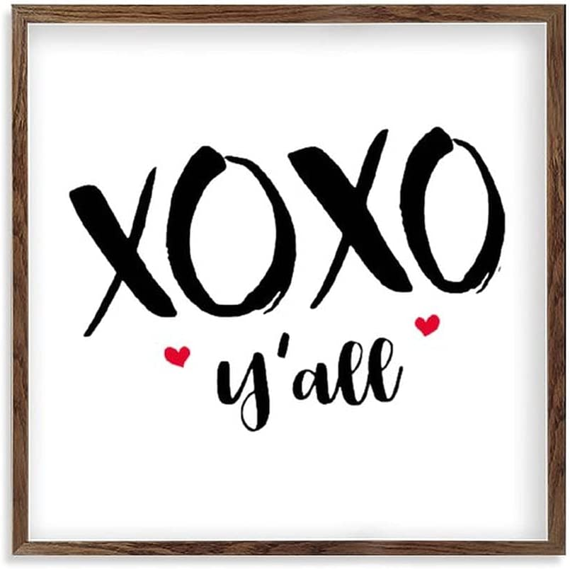 by Unbranded Wood Sign Welcome Hanging Wall Decoration Funny Signs for Home Decor Office Signs XOXO Yall Valentines Day 7x7 Inch