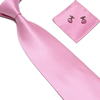 New Lush Baby Pink Woven Satin Men S Tie With Matching