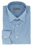 Canali Blue Gingham Formal Shirts for Mens