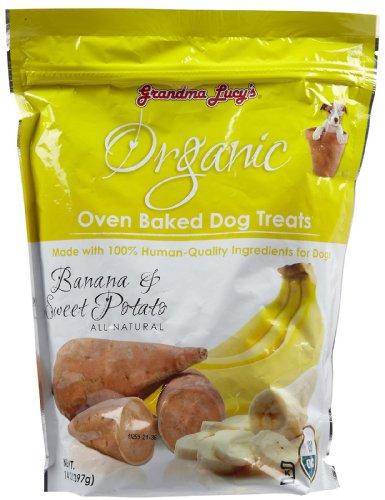 Grandma Lucy's Organic Oven Baked Treats – Banana and Sweet Potato – 14 oz, My Pet Supplies