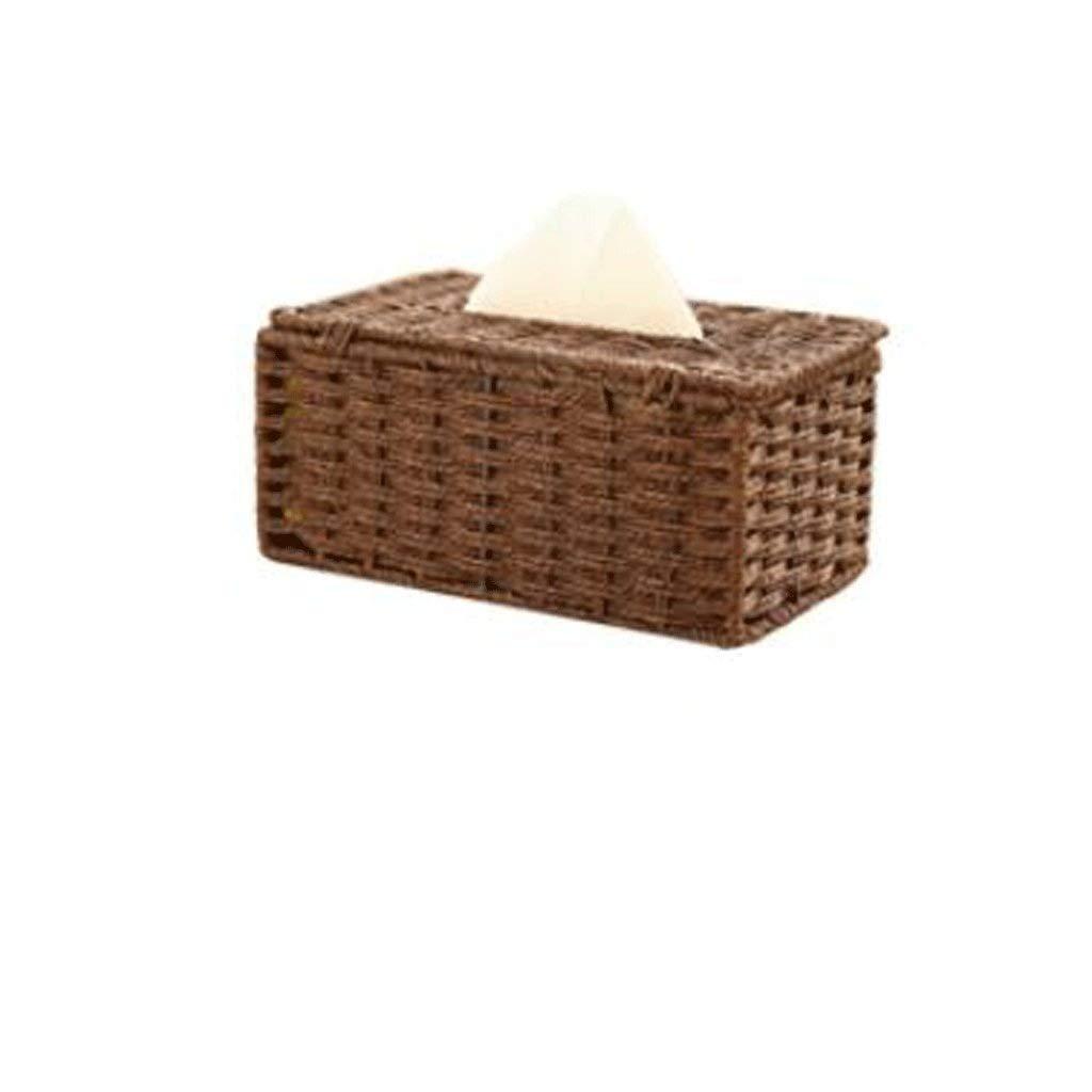 ZJHDX Caja de pa/ñuelos de Tejido de Miel Cubierta de pa/ñuelos Caja de Tejidos de Sala de Estar Simple Caja de Toallas de Coches Caja de Picking Ba/ño Creativo Color : A