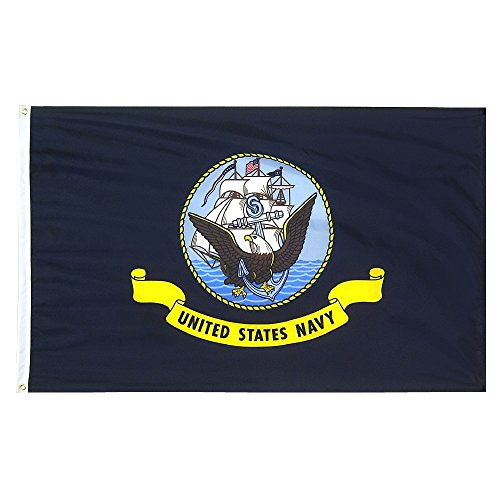 3 x 5 US Navy Flag – Polyester – 100% American Made