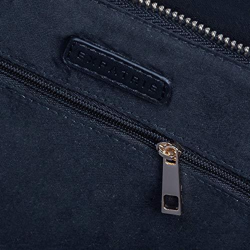 f56e5d652 Expatrié Vegan Leather Women's Handbag Shopper Tote Black - High Quality PU Leather  Handbags For Women - Large Elegant Ladies Shoulder Bag With Functional ...