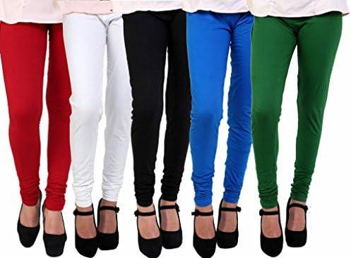 Anekaant Cotton Lycra Women's Churidar Legging Pack of 5